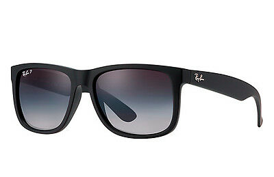Ray-Ban RB4165 622/T3 Black Frame Polarized Grey Gradient 55mm Lens Sunglasses