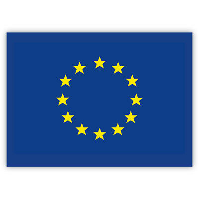 European Flag Sticker Set - EU Stickers - Quality Europe Stickers (7.4 x 5.2 cm)