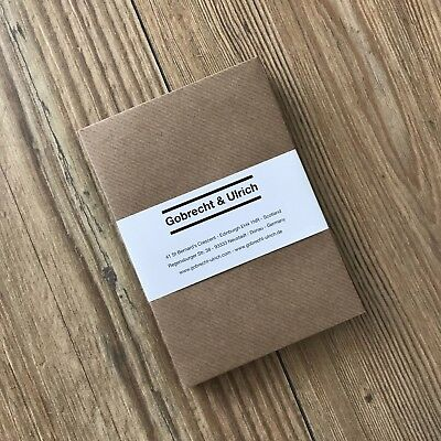 C6 Ribbed Kraft Envelopes - 100 gsm - Vintage Style - for A6 Greeting Cards