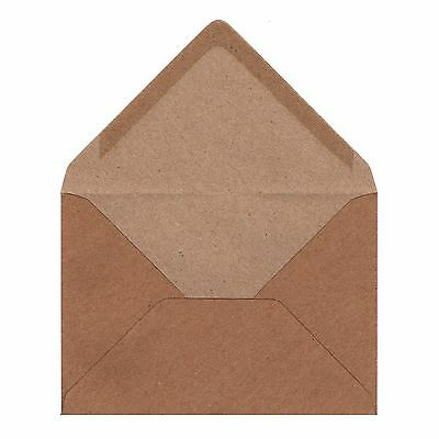 C6 Fleck Kraft Envelopes - 110 gsm - Vintage Style - for A6 Greeting Cards