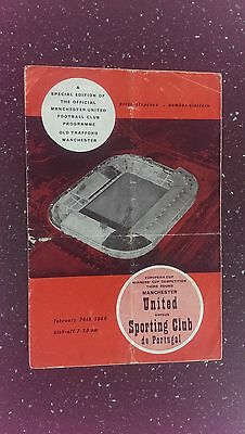 Manchester United V Sporting Club De Portugal 1963-64
