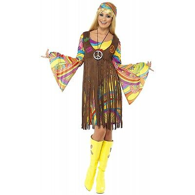 Womens Hippie Costume Adult Halloween Fancy Dress