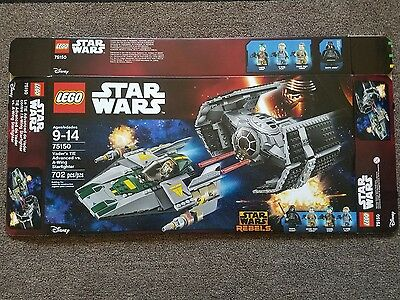 Lego Star Wars Vader's TIE Advanced vs A-Wing Starfighter 75150 Box Only