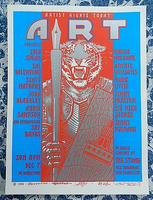 Artist Rights Today 1986 Concert Poster Moscoso Griffin Kelley Wilson Mouse Art