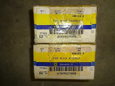 Lot Of 2 Square D 9070-Ap1 Fuse Block Assembly 9070Ap1 New
