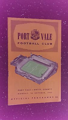 Port Vale V Notts County 1962-63