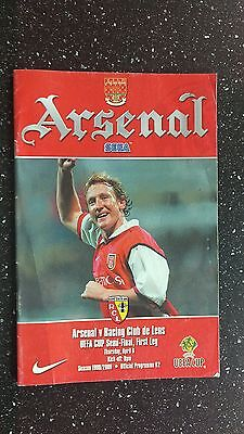 Arsenal V Racing Club Lens 1999-00
