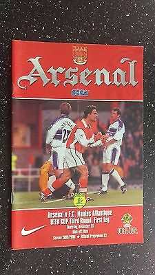 Arsenal V Nantes 1999-00.