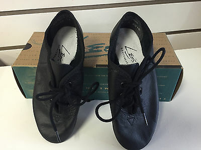 Leos Soft Leather Splitsole Jazz Shoes Black Unisex Dance 7038- New in Box