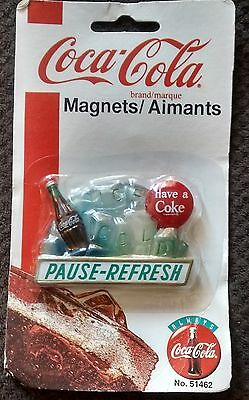 NOS 1997 Coca Cola Ice Cold Pause Refresh Magnet #51462 Coke soda pop NEW Gift