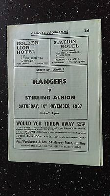 Rangers V Stirling Albion 1967-68