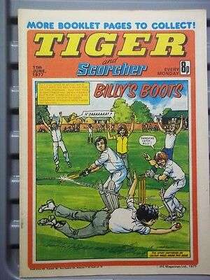 Tiger And Scorcher 11Th June 1977 [More Cricket Booklet Pages ]