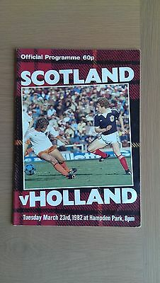 Scotland V Holland 1981-82