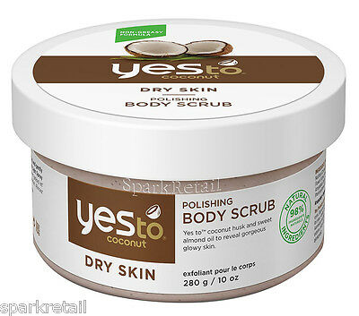 Yes To Coconut Organic Dry Skin Polishing BODY SCRUB Exfoliating Polish 280g