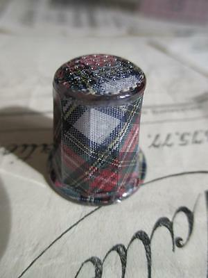 Sajou French Vintage Antique Style Luxury Thimble- Scottish Tartan