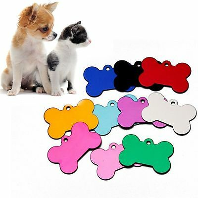 5 PCS  Blank Message Pet Tag Anti-Lost Dog ID Colorful Pendant for Random