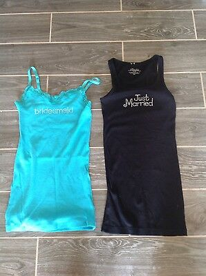 Bridesmaid/ Just Married Tank Tops
