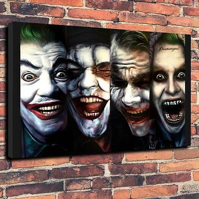 "Jokers Printed Canvas A1.30""x20""- Deep 30mm Frame V3 Fantasy DC Comic"