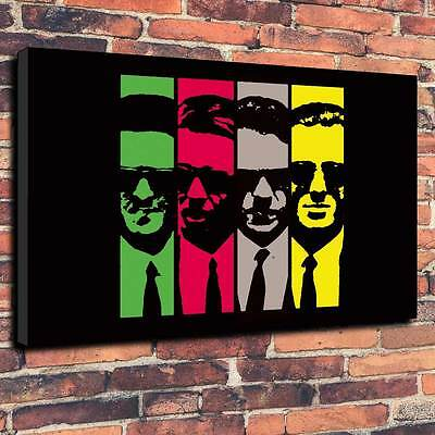 "Reservoir Dogs Printed Canvas Print A1.30""x20""Deep 30mm Quentin Tarantino V1"