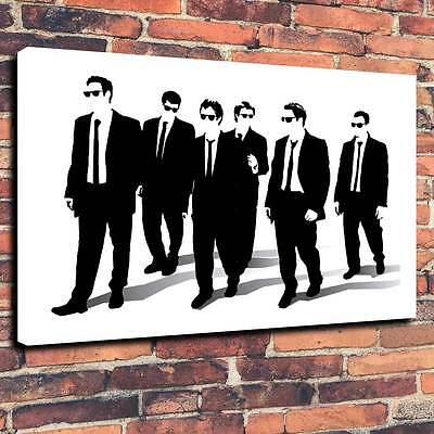 "Reservoir Dogs Printed Canvas Print A1.30""x20""Deep 30mm Quentin Tarantino V2"
