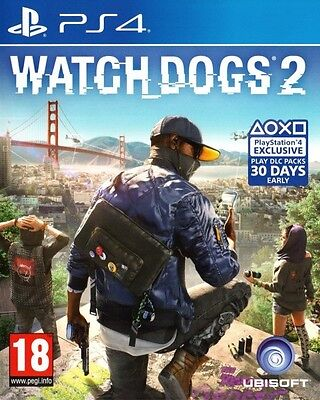 New Watch Dogs 2 (PS4, Playstation 4)