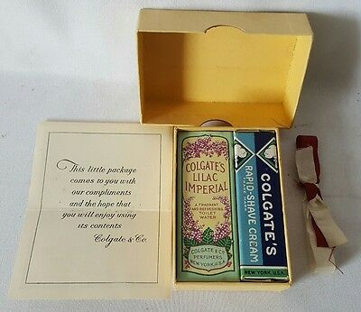 Colgate shaving cream & after shave Free Sample Size Vintage 1930s Collectible