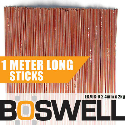 Boswell - 2.4mm x 2KG Mild Steel ER70S-6 TIG FILLER RODS Welding Welder Wire Rod