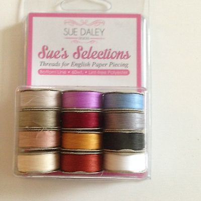 Bottom Line Thread Selection 60wt threads for English Paper Piecing and quilting