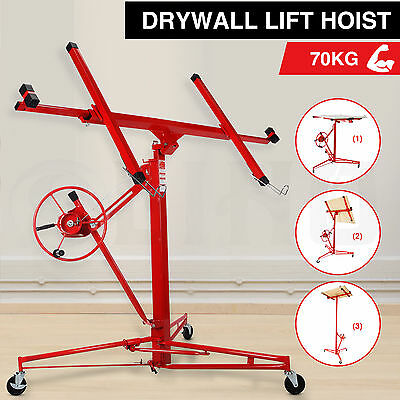 NEW 11FT Drywall Lift Hoist Caster Panel Sheet Lifter Plasterboard Hoist