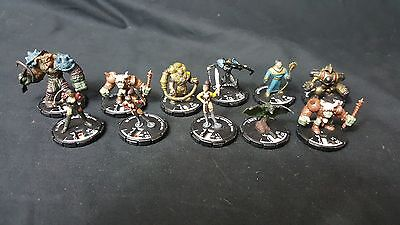 (#MK128) Mage Knight Mix lot of 11 Miniatures