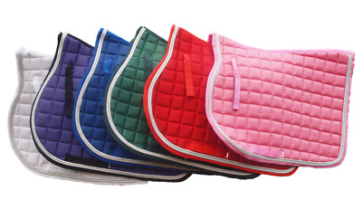 Dressage Cotton Saddle Pad Decorative Sliver Edging 14mm Quilted Cotton pad