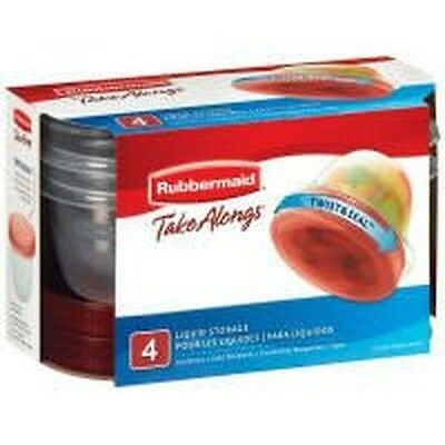 Rubbermaid TakeAlongs 1-Cup Twist and Seal Food Container 4-Pack
