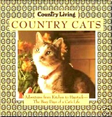 """""""country Living Country Cats"""" Hardcover Book In Sleeve"""