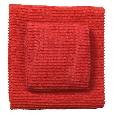 Now Designs Ripple 13x13in Dish Cloth, Red