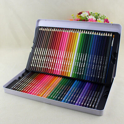 New 72 Colored Pencils Premium Art Drawing Colored Pencils Soft Core Lead & Case