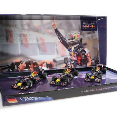 Minichamps 1/43 Red Bull Racing F1 Triple Set 2010/11/12 World Champion - Sebast