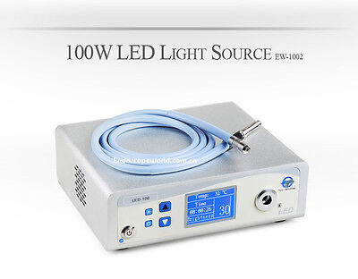 New 100W LED Light Source 300W Xenon Comparable 50000hours + Fiber Cable