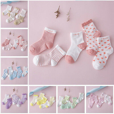 5pairs Newborn Infant Toddler Kids Baby Girl Boy Cotton Cartoon Socks Soft Sock