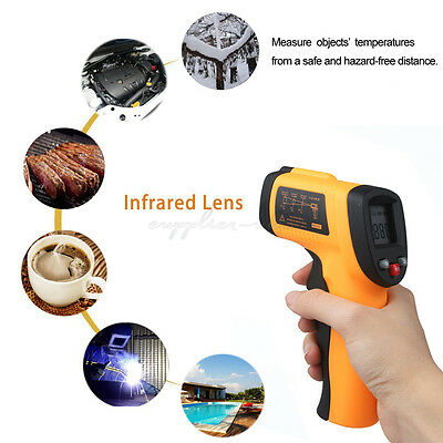 Handheld IR Non-Contact Laser Infrared Thermometer Temperature Gun Temp Tester