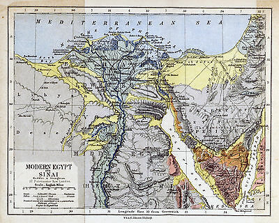 Map of Egypt 1882  Print 8 X 10