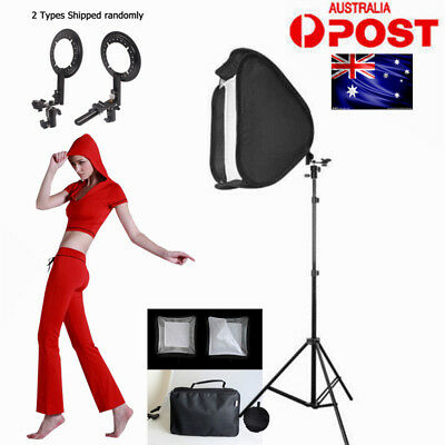 PRO.Studio Soft Box Flash Speedlite Softbox Diffuser for Speedlight + Stand KIT