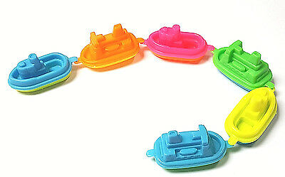 6 PC Floating Boat Vessel Ship Birthday party favors PINATA Bag FILLER bath toys