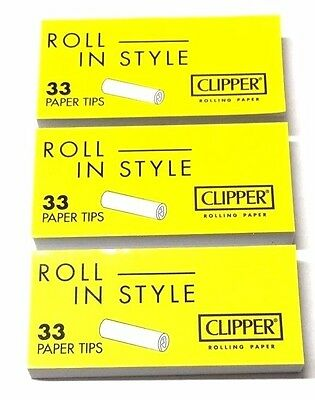 Clipper Roach Strips Roaches Wide Paper Tip Cigarette Tobacco Filter Card Tips