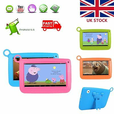7'' 8GB KIDS TABLET PC ANDROID 4.4 QUAD CORE WIFI BLUETOOTH CHILD CHILDREN New