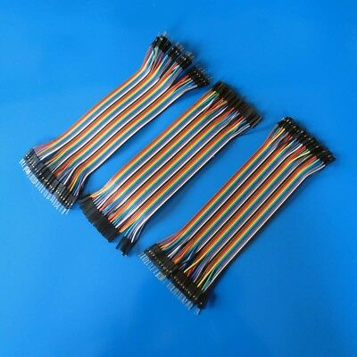 120pcs 20cm Length 1pin Jump Wire Dupont Cable 2.54mm Spacing for Arduino