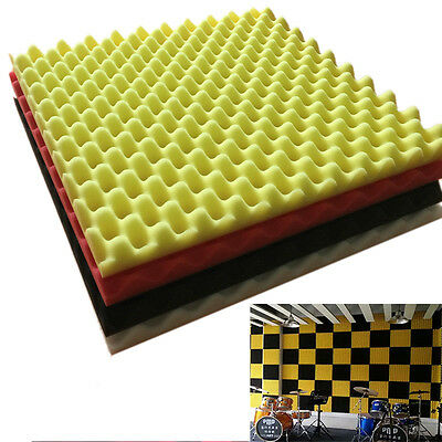 Acoustic Foam 50x50x3cm Studio Music Sound Room Treatment Soundproof Sponge Foam