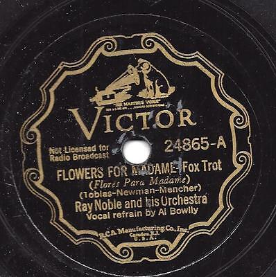 Al Bowlly mit Ray Noble Orchester : Clouds  + Flowers for Madame