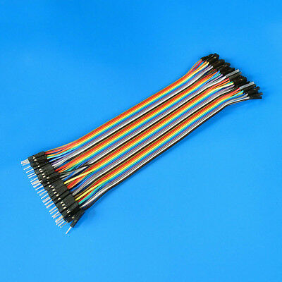 1set 20cm 40pin Male to Female Jump Wire Dupont Cable 2.54mm Spacing for Arduino