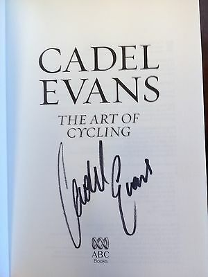 Cadel Evans - The Art of Cycling - SIGNED BOOK. Tour de France. Giro d'Italia.