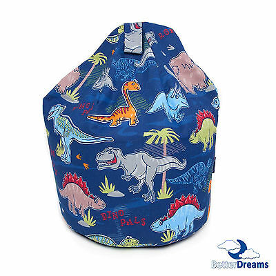 BetterDreams Exclusive Dinosaur Bean Bag Chair For Kids Filled Bean Bag